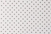 TISSU PETITS POINTS - BLANC/GRIS 50 X 140 CM