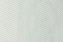 TISSU ZIGZAG - BLANC/MENTHE 50 X 140 CM