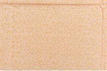 TOILE TRIANGLES - POUDRE/OR 50 X 140 CM