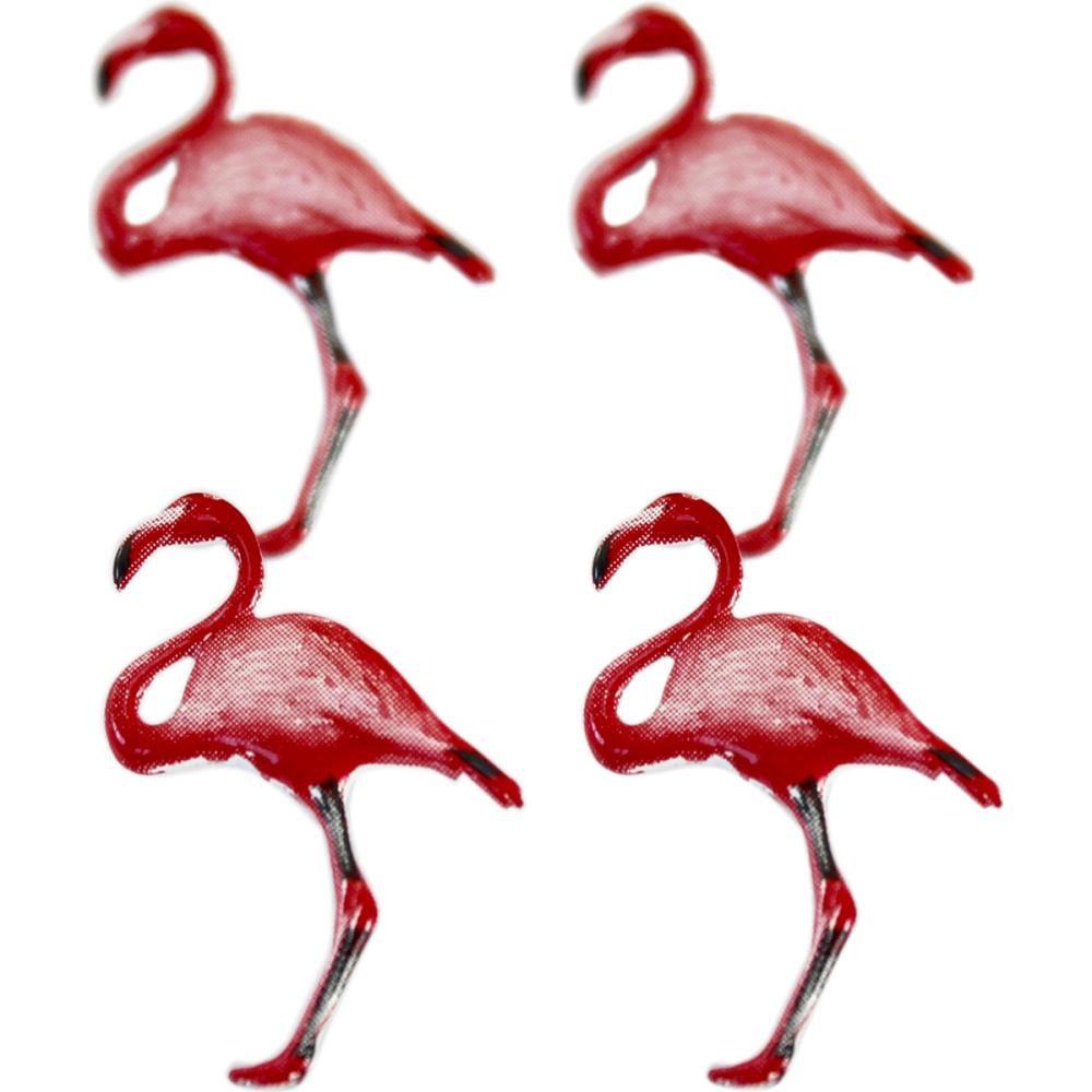 12 brads Flamingo - Flamants roses