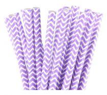 25 Pailles chevrons - Violet clair