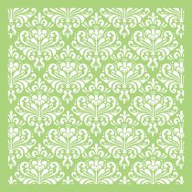 6 X 6 Designer Template Ornate Damask