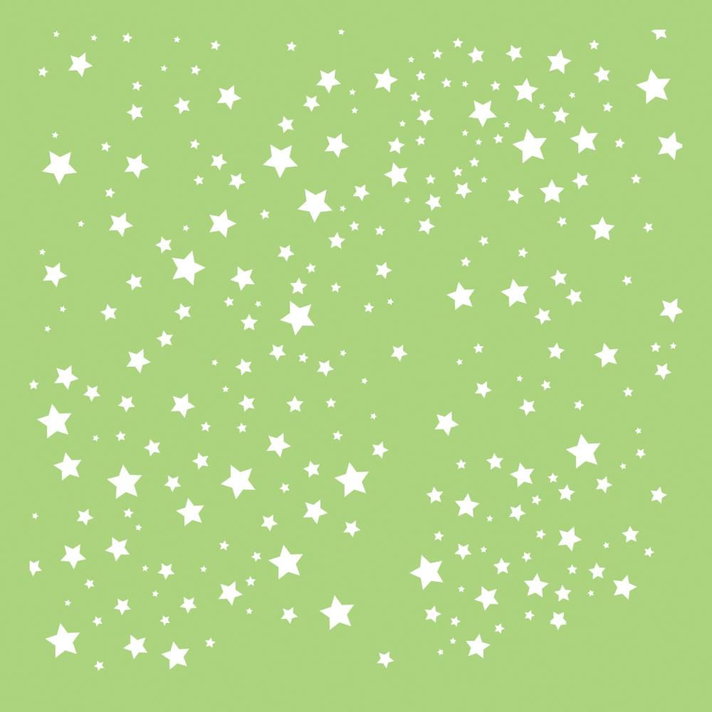 6 X 6 POCHOIR ETOILES - Scattered Stars