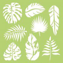 6 X 6 POCHOIR FEUILLES - Tropical Leaves
