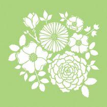 6 X 6 POCHOIR FLEURS - Bouquet