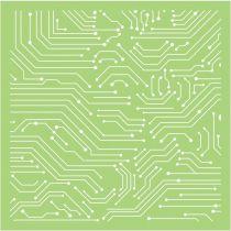6 X 6 POCHOIR LIGNES - Linear Lines