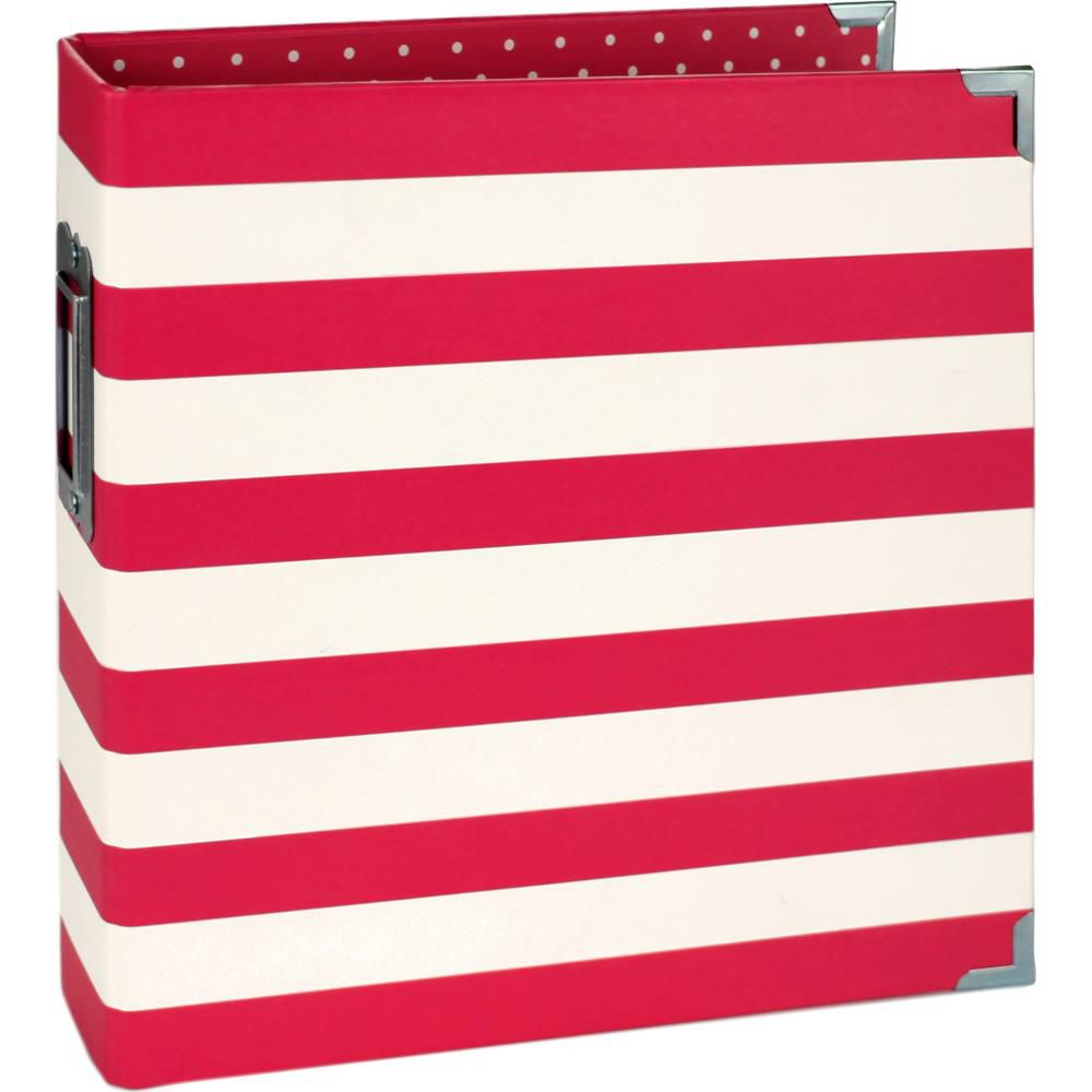 6X8 SN@P! BINDER RED STRIPES - Album Classeur rouge à rayures