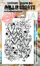 AALL and Create Stamp Set -534- Lined Hearts