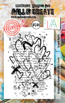 AALL and Create Stamp Set -544- Scripted Hearts