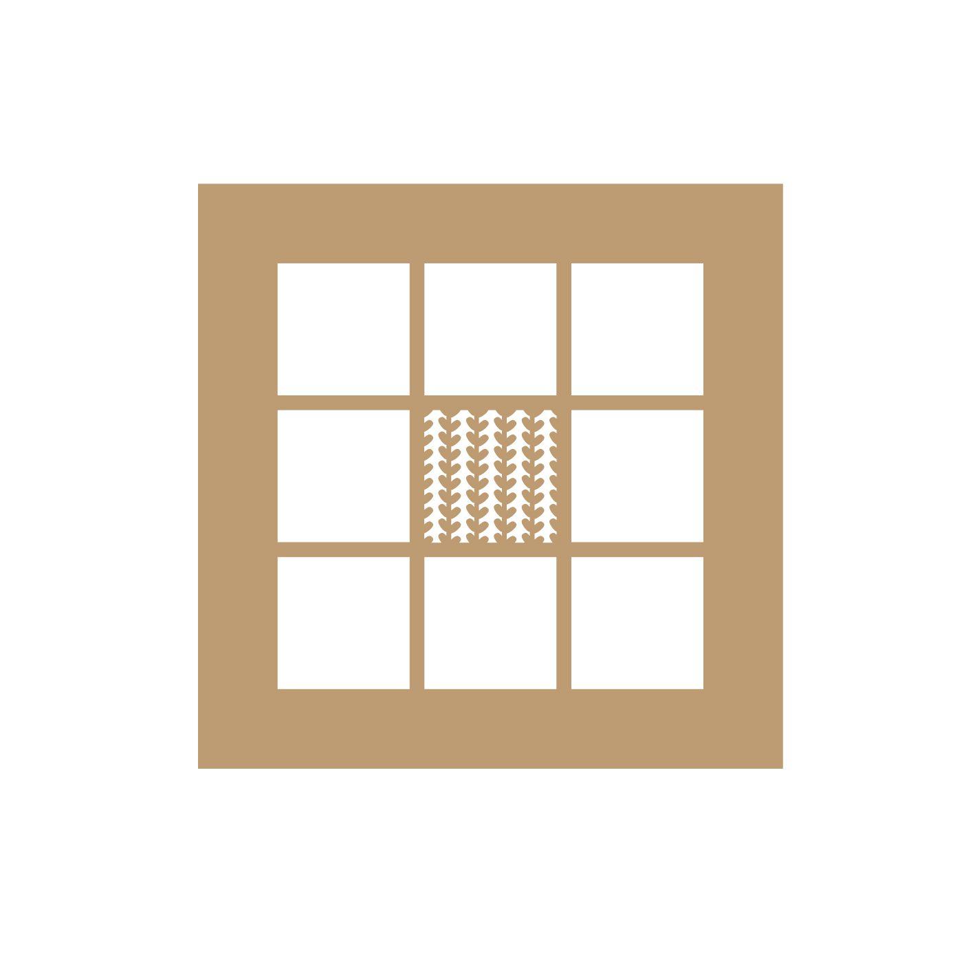 ALBUM 15*15 CM - 9 CASES MOTIF FEUILLAGES