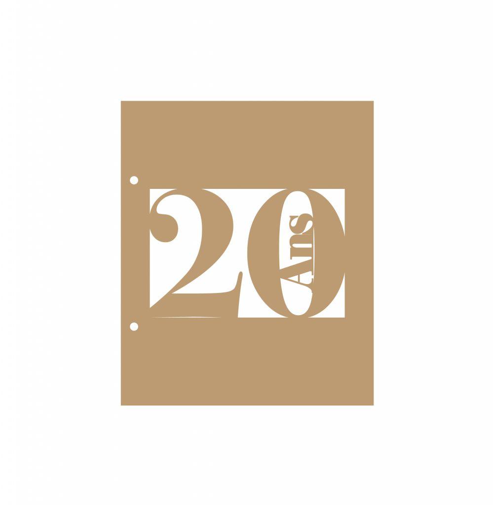 ALBUM 22,3 X 18,5 CM - 20 ANS