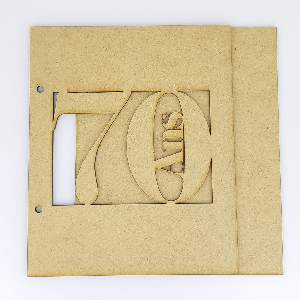ALBUM 22,3 X 18,5 CM - 70 ANS