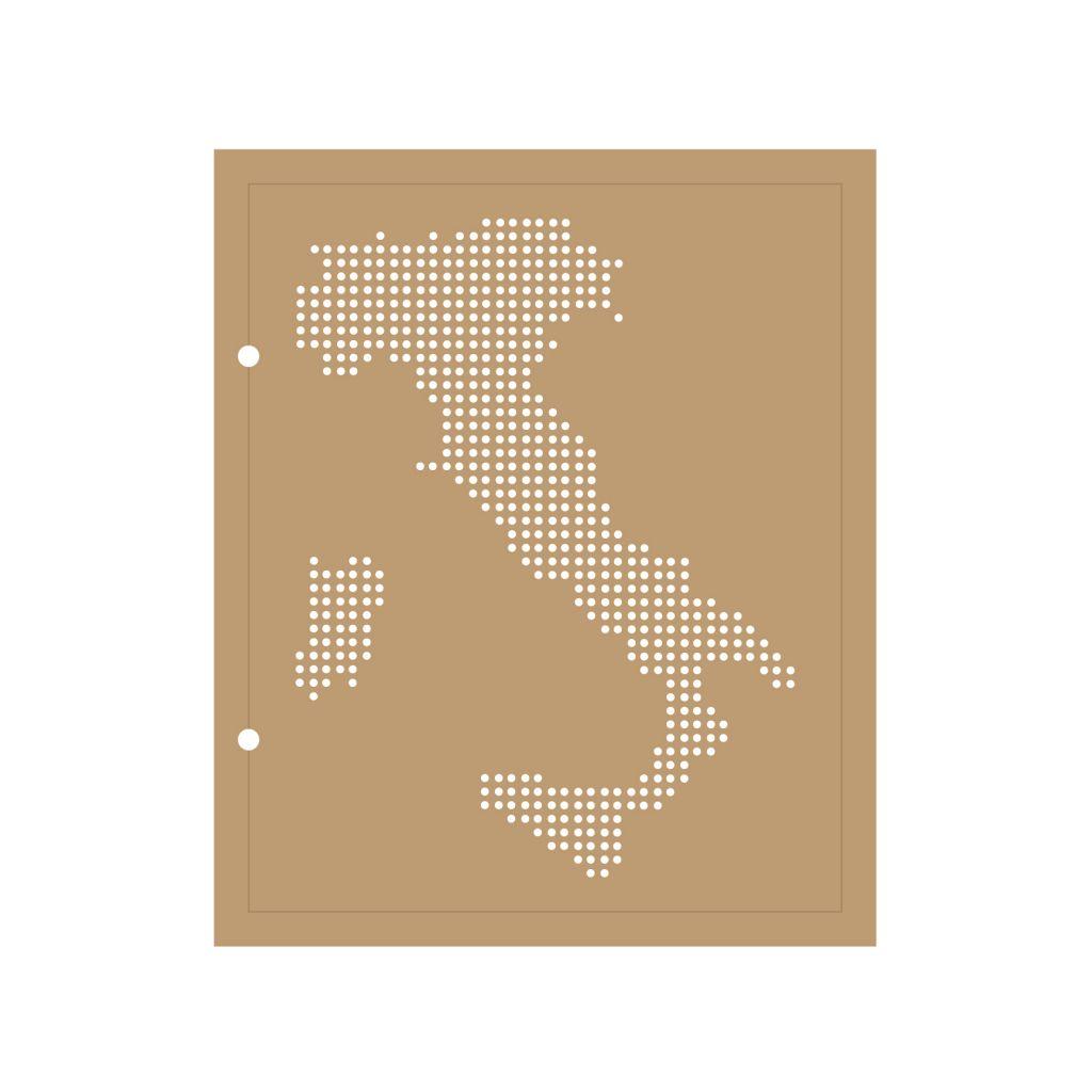 ALBUM 22.3x18.5 CM CARTE DE L ITALIE