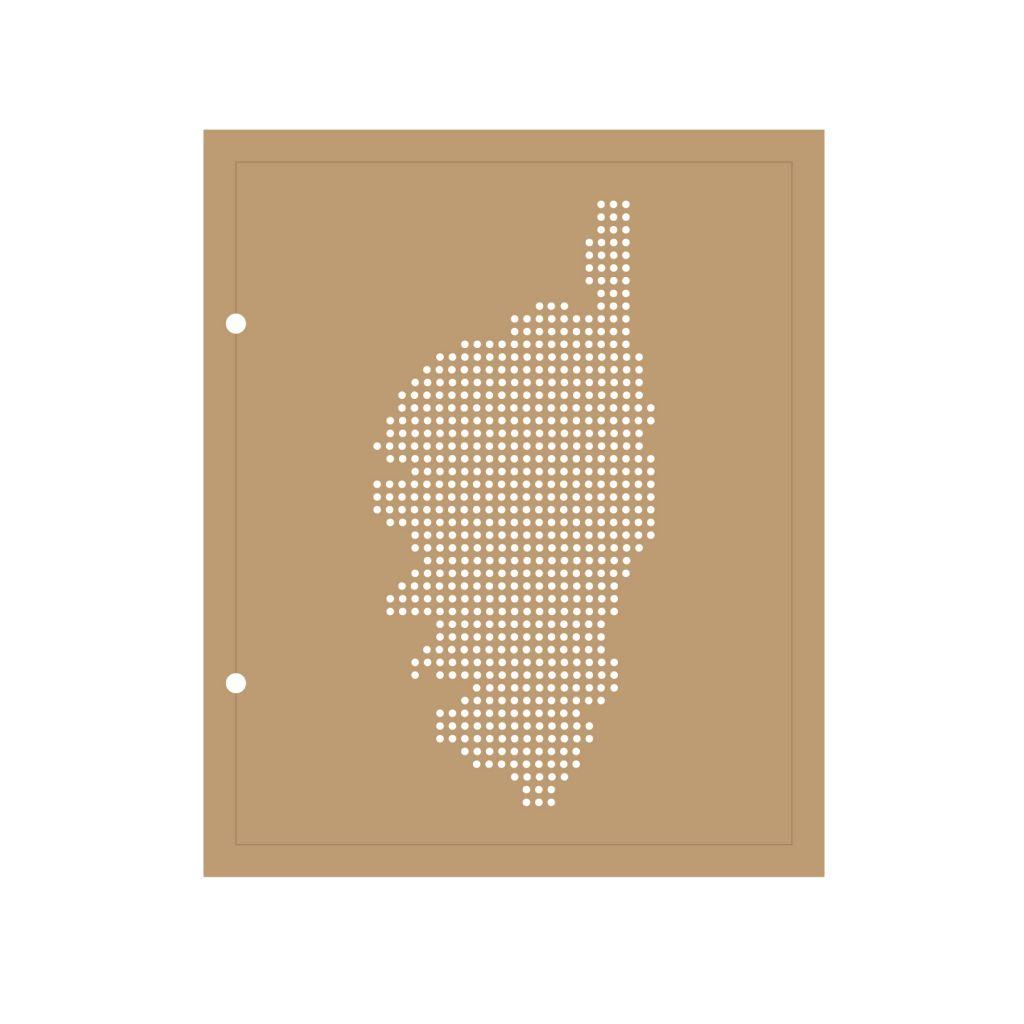 ALBUM 22.3x18.5 CM CARTE DE LA CORSE