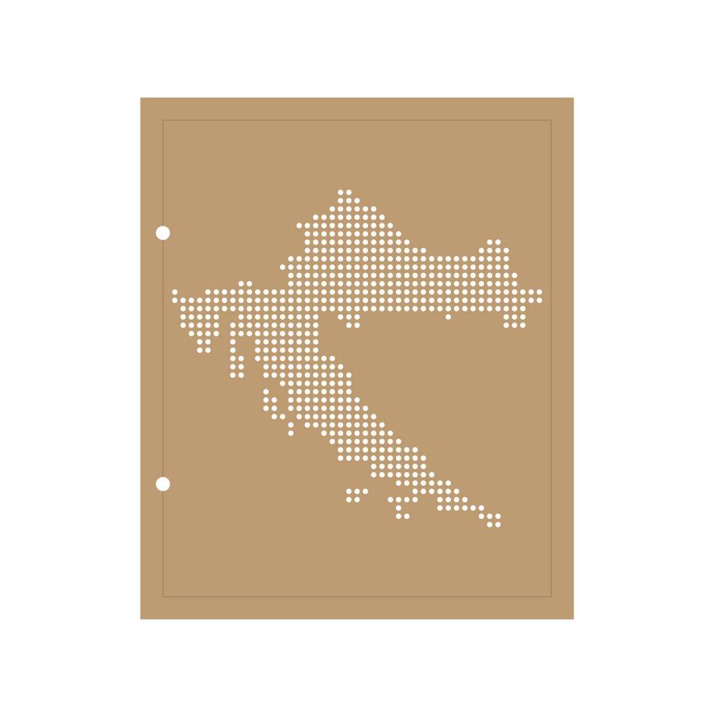 ALBUM 22.3x18.5 CM CARTE DE LA CROATIE