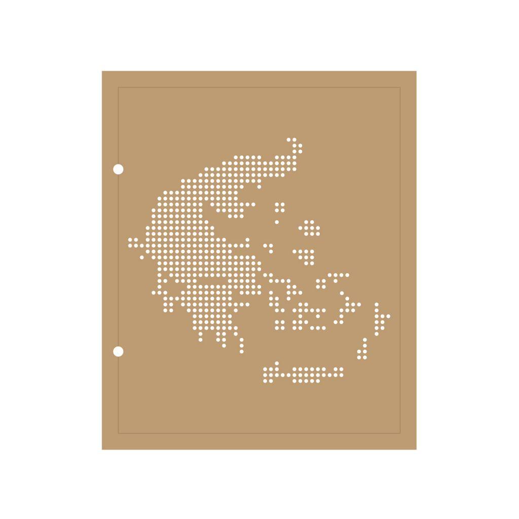 ALBUM 22.3x18.5 CM CARTE DE LA GRECE