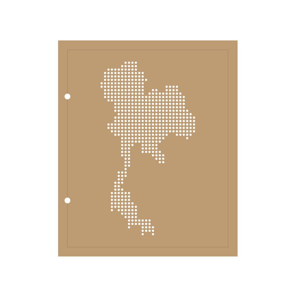 ALBUM 22.3x18.5 CM CARTE DE LA THAILANDE