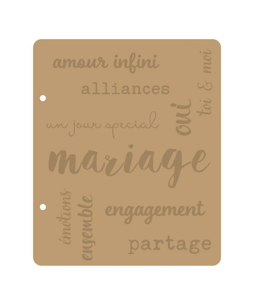 ALBUM 22.3x18.5 CM MARIAGE