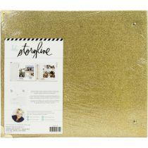 "ALBUM 3 ANNEAUX 12\"" X 12\"" - Gold Glitter"