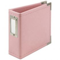 """Album Classic Leather D-Ring 4\""""X4\"""" Pretty Pink"""