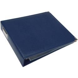ALBUM FAUX LEATHER 3 RING BINDER COBALT 12X12