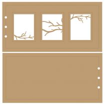 ALBUM HORIZONTAL 10 X 20 CM - 3 RECTANGLES - BRANCHES