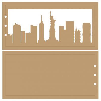 ALBUM HORIZONTAL 10 X 20 CM - 3 RECTANGLES - NEW YORK