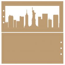 ALBUM HORIZONTAL 10 X 20 CM - 3 RECTANGLES - NEW YORK
