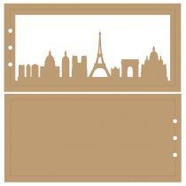 ALBUM HORIZONTAL 10 X 20 CM - 3 RECTANGLES - PARIS