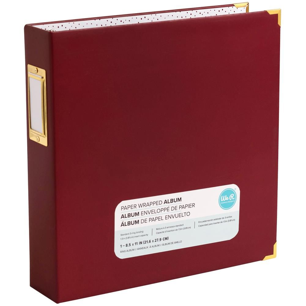 "Album Paper Wrapped D-Ring 8.5""X11\"" Maroon"
