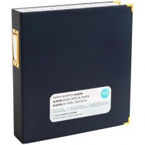 """Album Paper Wrapped D-Ring 8.5\""""X11\"""" Navy"""