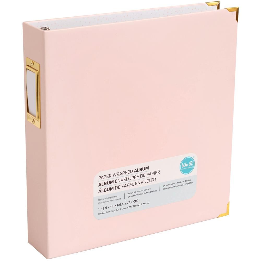 "Album Paper Wrapped D-Ring 8.5""X11\"" Pink"