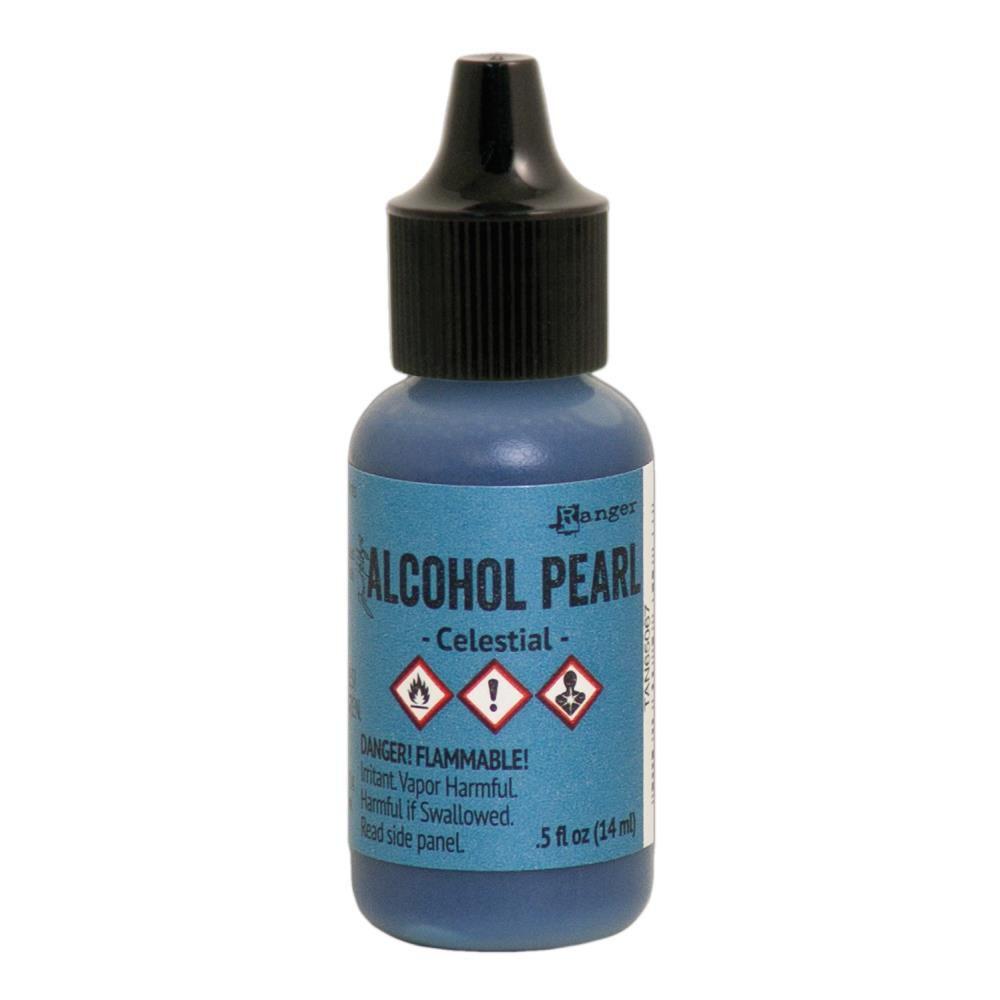 ALCOHOL PEARL CELESTIAL - Encre à alcool Bleu