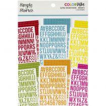 ALPHA STICKER BOOK - Color Vibe Brights