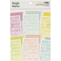 ALPHA STICKER BOOK - Color Vibe Lights