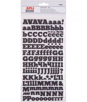 ALPHABET STICKERS MOUSSE - Noir