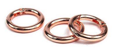 ANNEAUX METAL 25MM - ROSE GOLD