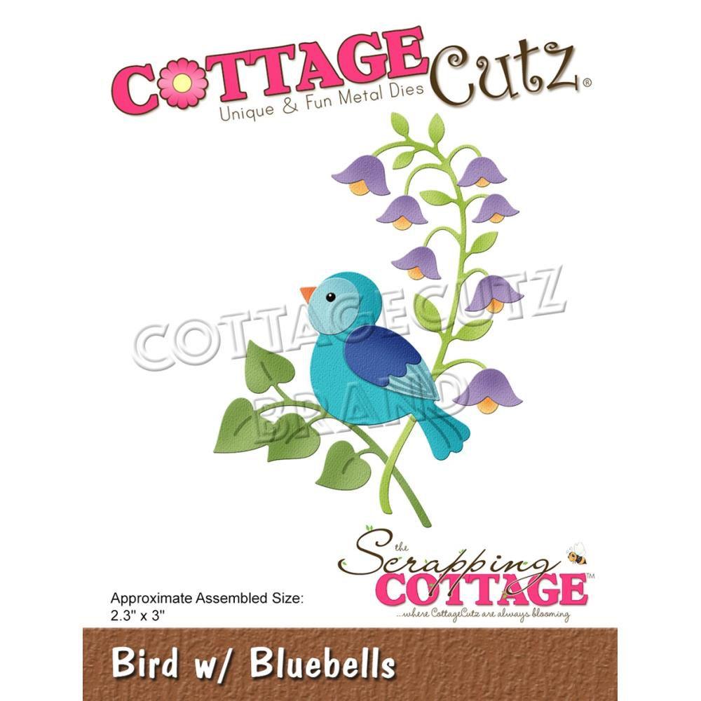"Bird W/Bluebells 2.3\""X3\"""