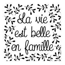 BLOC + TAMPON TRANSPARENT - La Vie est Belle en Famille