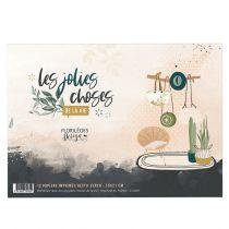 BLOC DE PAPIERS IMPRIMES A5 - Les Jolies Choses de la Vie