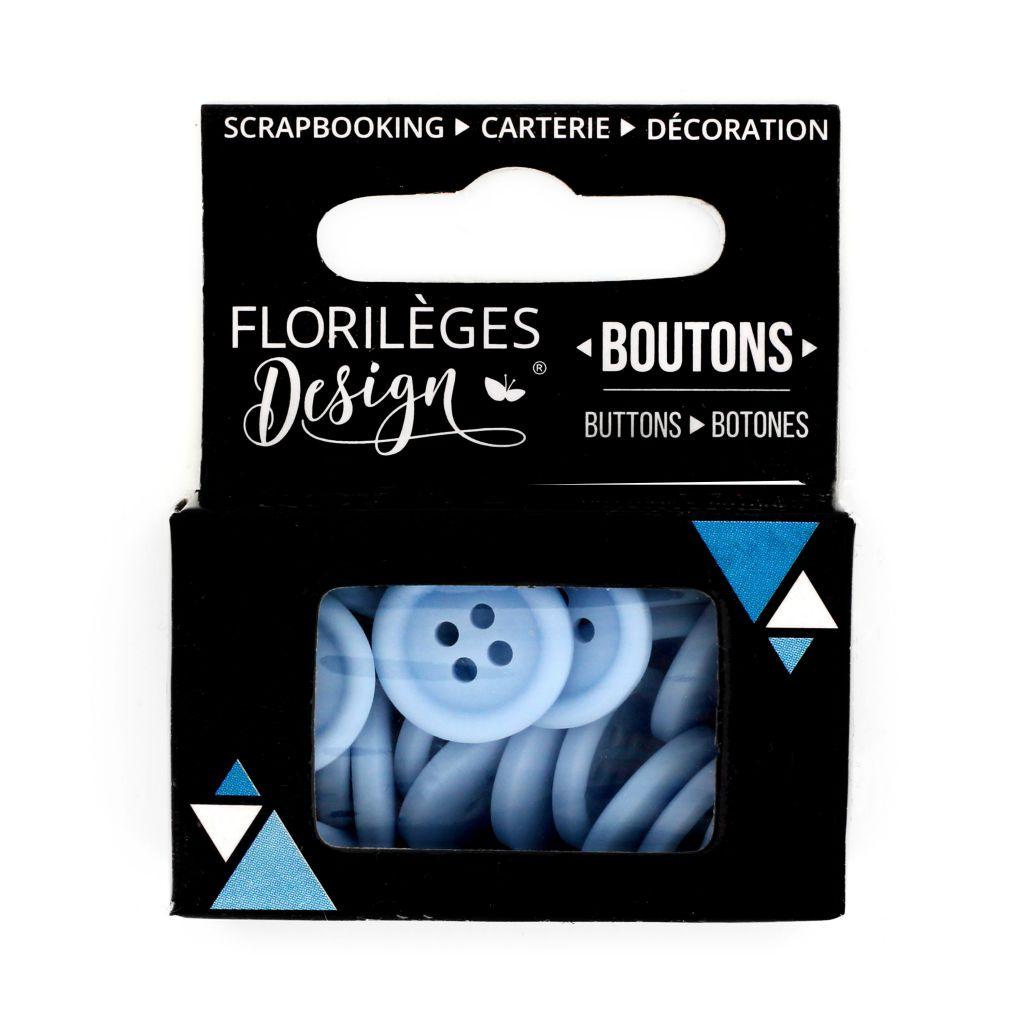 Boutons Bleu acier