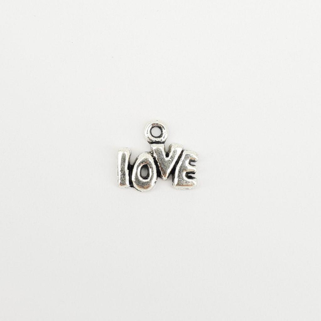 BRELOQUE MOT LOVE - ARGENT