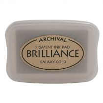 BRILLIANCE PIGMENT INK PAD - Galaxy Gold