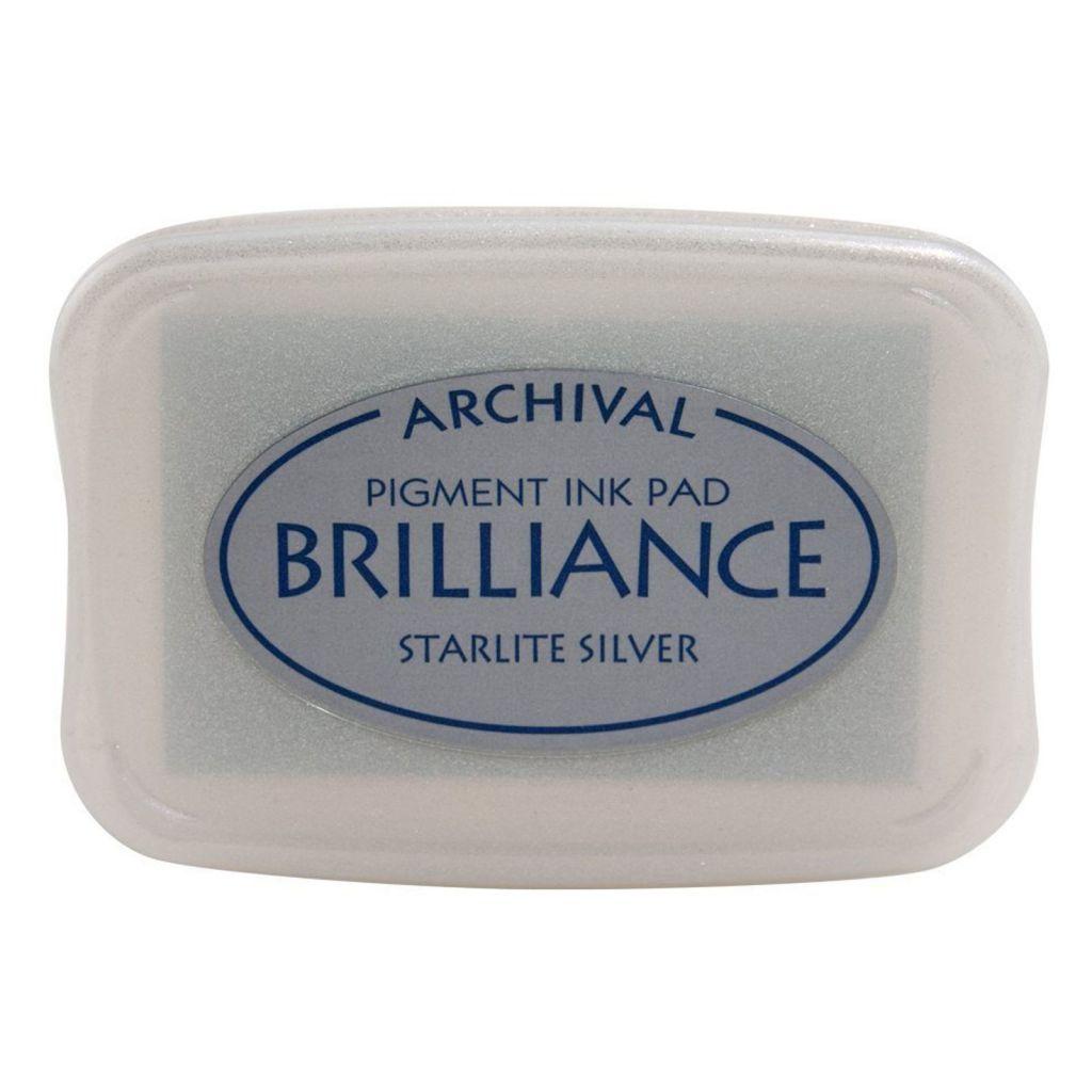 BRILLIANCE PIGMENT INK PAD - Starlite Silver