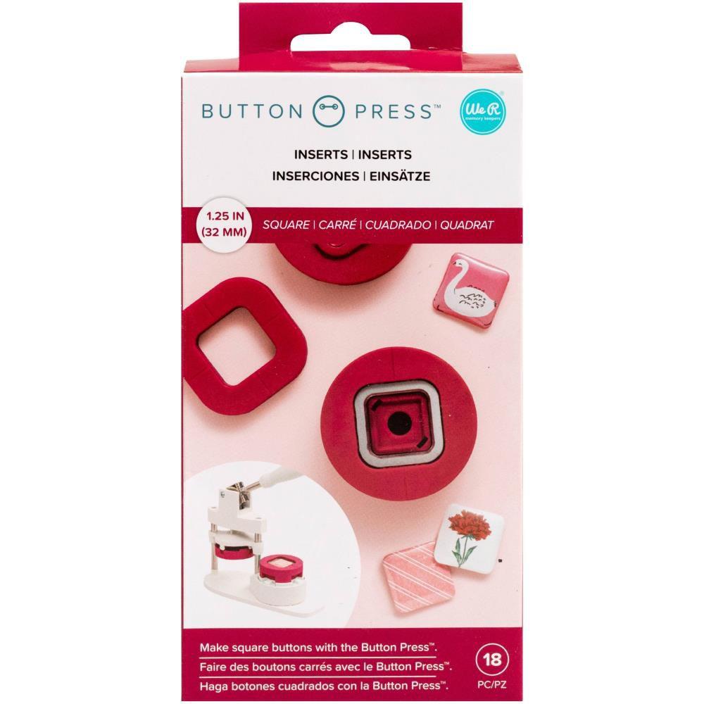 Button Press Insert Square (31mm)