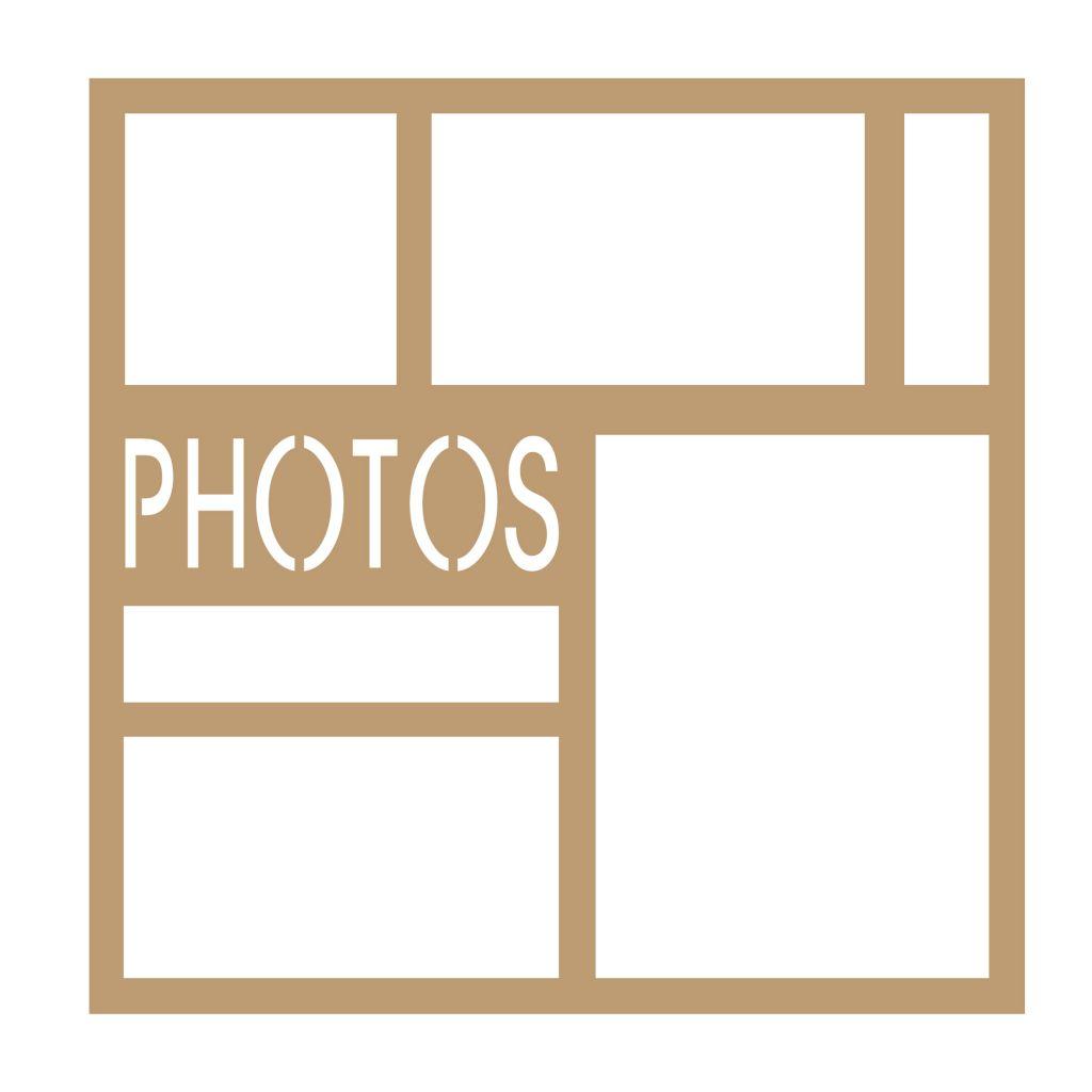 CADRE 30*30 PHOTOS ECRITURE DROITE