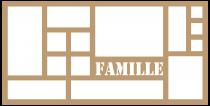 CADRE 30*60 14 CASES FAMILLE