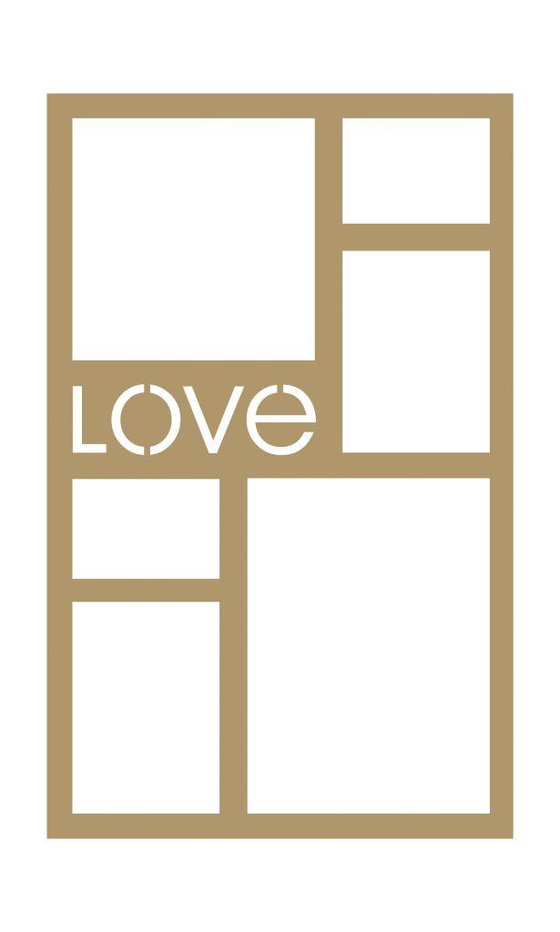 CADRE 40*25 VERT LOVE