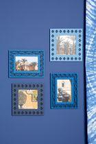 CADRE BLUE ETHNIC MOTIF 17X22 CM