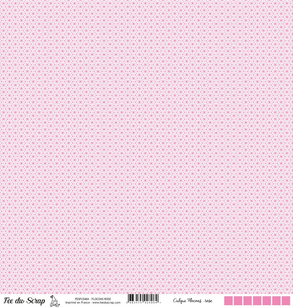 Calque flocons - Rose